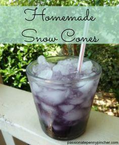 Homemade Snow Cones using Kool Aid {passionatepennypincher.com} - so simple!