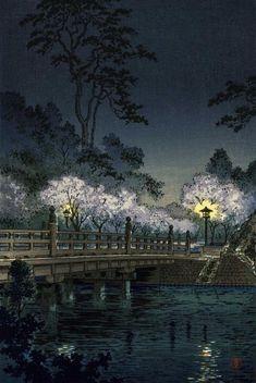 Benkei Bridge by Tsuchiya Koitsu