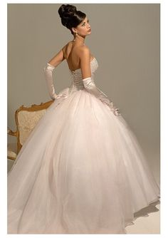Stunning Organza Ball Gown and Chapel Train