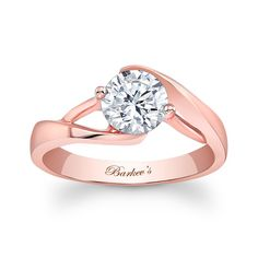 Barkev's Rose Gold Solitaire #7543LPW