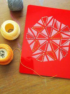 for the CRAFTER: DIY stitch panel from Kristen Doran Design $40