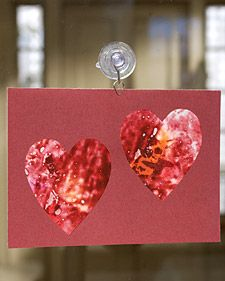 Looking for a Valentine's Day craft for kids? They'll love making these Crayon Stained-Glass Heart Cards