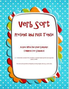 Sort irregular verbs--past and present tense. $1