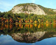 fall foliag, lake winnipesauke, gorgeous reflect, lakes, lake region, hampshir lake, england state, new hampshire, england trip