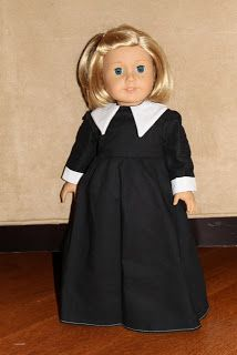 "MADE: Pieces For Reese: 18"" Doll: Pilgrim Dress  So cute and what a nice Thanksgiving surprise for your little girl.  Looks pretty easy"