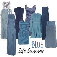 Soft summer blue
