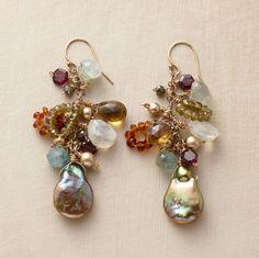 gemstone earrings, sundanc, color, pearls, beaded earrings, royal ransom, dangle earrings, jewelri, ransom earring