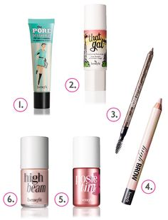 Benefit Makeup-  The perfect 6 pieces you need in your makeup bag! Fave brand