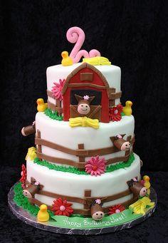 Pig in the Barn Farm cake