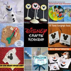 Disney Themed Crafts Roundup
