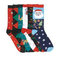 ladi sock, woman fashion, christmas design, fashion crew, casual sock