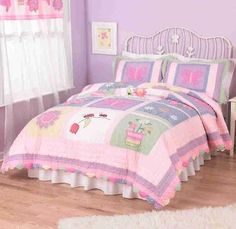 Anna's Dream Bedding Set - Features lady bugs, butterflies, and flowers