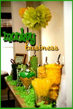 More monkey themed party ideas- The Place for All Things Party