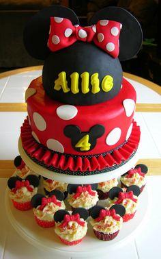 Minnie Mouse Birthday Cake .. how cooooot