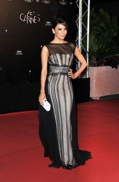 Eva wore a gown from Alberta Ferretti's Fall 2012 collection