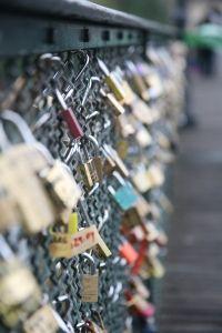 Paris Love lock bridge