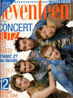 Wondering why 'N Sync is sideways? It's because this cover opens up into a poster of the guys! As the baby of the group, no one suspected that Justin would go on to be such a solo superstar — and so funny!