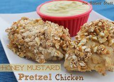 Honey Mustard Pretzel Chicken | Six Sisters' Stuff