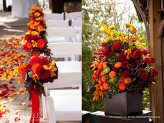 beautiful fall wedding colors