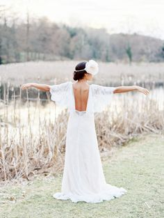 Backless wedding gown by Christie Graham Photography-via Wedding Sparrow http://weddingsparrow.com