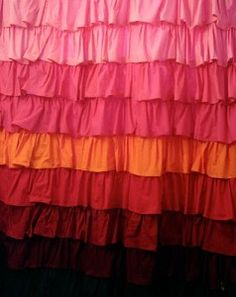 Ruffled Shower Curtain #easytosew