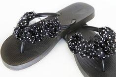 Easy peasy decorated flip flops