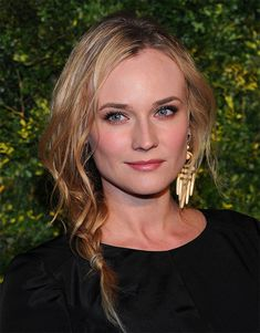 This messy braid is so casual it's practically undone, but it still looks chic and romantic (at least on Diane Kruger!).