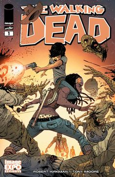 THE WALKING DEAD #1 full color variant cover by by Nick Dragotta