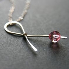 LOVE THIS!!! Breast cancer awareness sterling necklace
