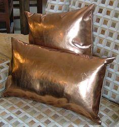Copper Pillow Faux-leather $48.00