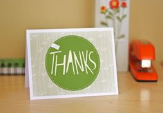 Printable thank you card | How About Orange