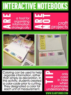 Interactive Notebooks ≠ Craft Projects....tips for maximizing learning time while working on INBs