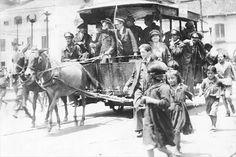 1884, Línea del tranvía de mulas de la Plaza de Bolívar a Chapinero - Bogotá, Colombia