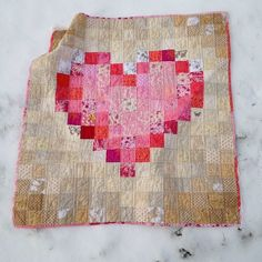 Amelia's Heart Quilt by Sarah.WV at Coopcrafts