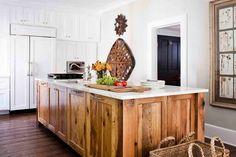paneled wood island