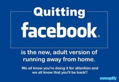 Can You Quit Facebook? #humor #lol #funny