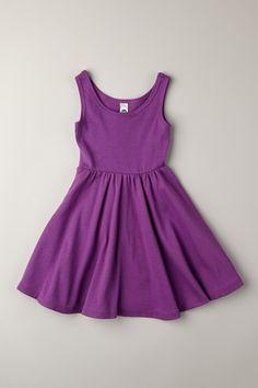 American Apparel Kids Organic Ribbed Skater Dress #purple #dress
