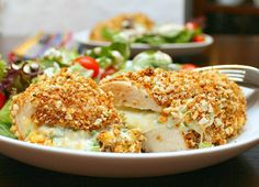 Jalapeño Popper Chicken by kelseysappleaday as  adapted from Elly Says Opa!, Sunny Side Up, and Allrecipes #Chicken #Jalapeno_Popper #kelseysappleaday