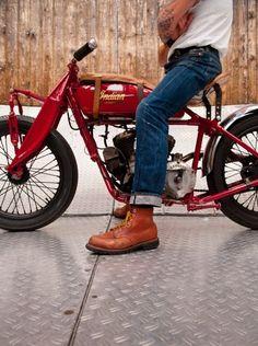 Boots + bike