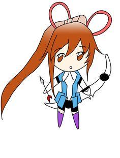 cute chibi archer