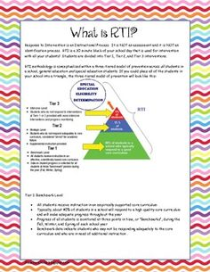 Does your school use RTI (response to intervention)
