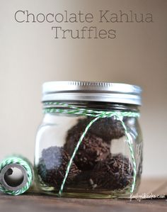 Chocolate Kahlua Truffles