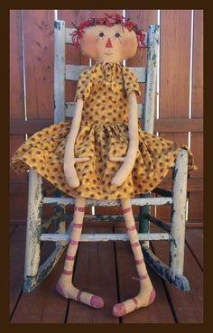 Free Primitive Raggedy Ann Patterns | raggedy, valentines, valentine, raggedy ann, primitive doll patterns ...