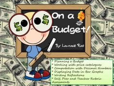 BUDGETING PLANS AND GRAPHING from TeachToTell on TeachersNotebook.com -  (31 pages)  - This comprehensive unit on budgeting features interactive activities to enable students to plan a budget taking into account earned income, expenses and a short-term spending goal.