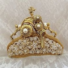 Royal Wedding Crown Gold Tiara Bridal Crown by HopscotchCouture,