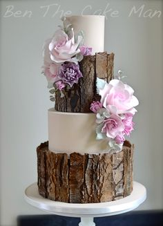 Rustic bark wedding