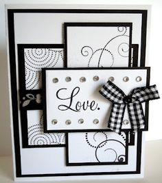 Love the black and white... love the CTMH stamps used here!