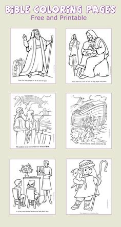 Bible coloring pages - Printable fun and learning for kids.