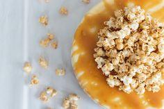 Salted Caramel Popcorn Cheesecake   Becca Bakes (www.becca-bakes.com)