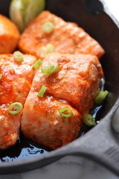 Sweet and Spicy Sriracha Baked Salmon - a healthy, flavorful, 20 minute meal!